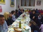 Michè, la Manrica la Francesca, La camilla Andrea e Antò con le mogli e Mauzio Baldi con la moglie Piera