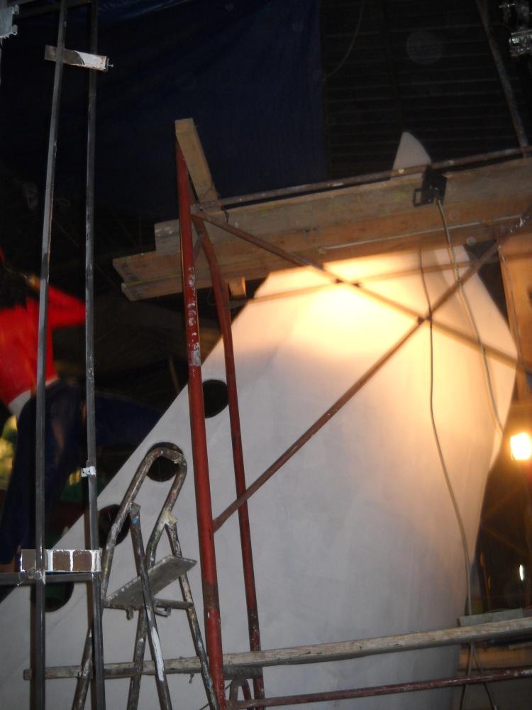 costruzione del carro 2011  ' Capitan Uncino sbarca all'Africa' (5/6)